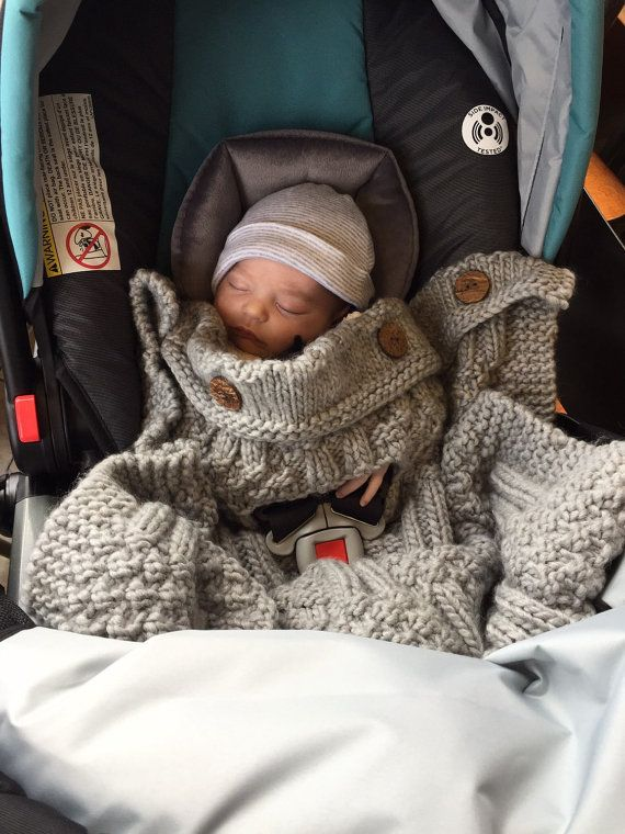 Knit Car Seat Blanket Perfect Fall Winter Accessory For