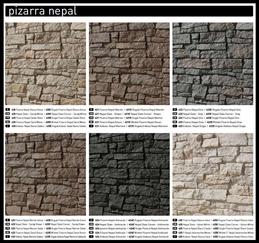Panel piedra pizarra nepal para el hogar pinterest san miguel cladding and salons - Panel piedra exterior ...