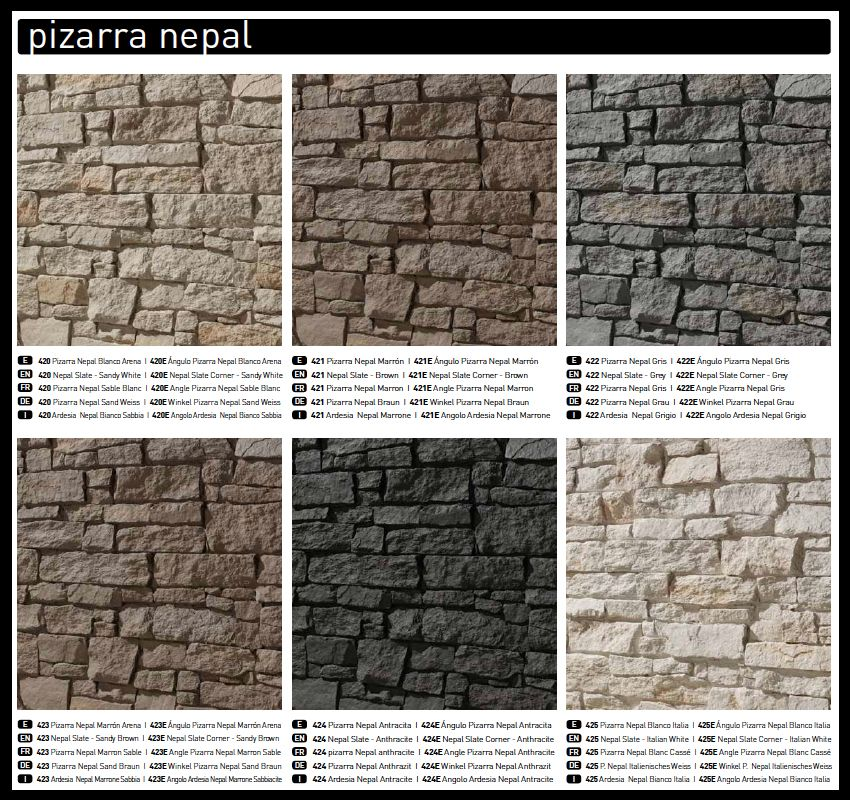 Panel piedra pizarra nepal para el hogar pinterest for Piedra natural pizarra