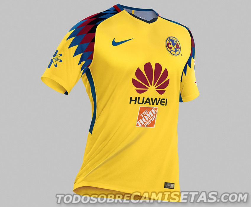 new style 9876b 45e11 Tercer jersey Nike de America 2018 | Soccer | Club america ...