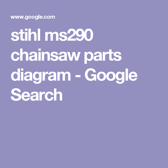 Stihl Ms290 Chainsaw Parts Diagram