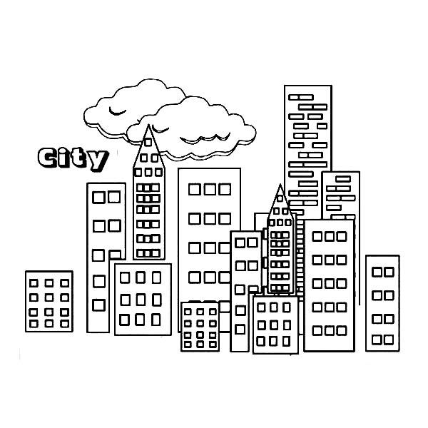 City City Building Coloring Page teaching 5 comunidad