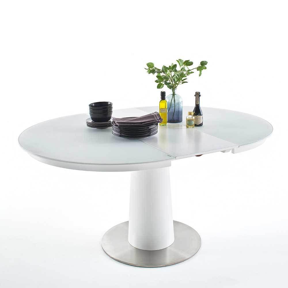 Ausziehbare Tische tisch mit ausziehbare glasplatte weiß jetzt bestellen unter https