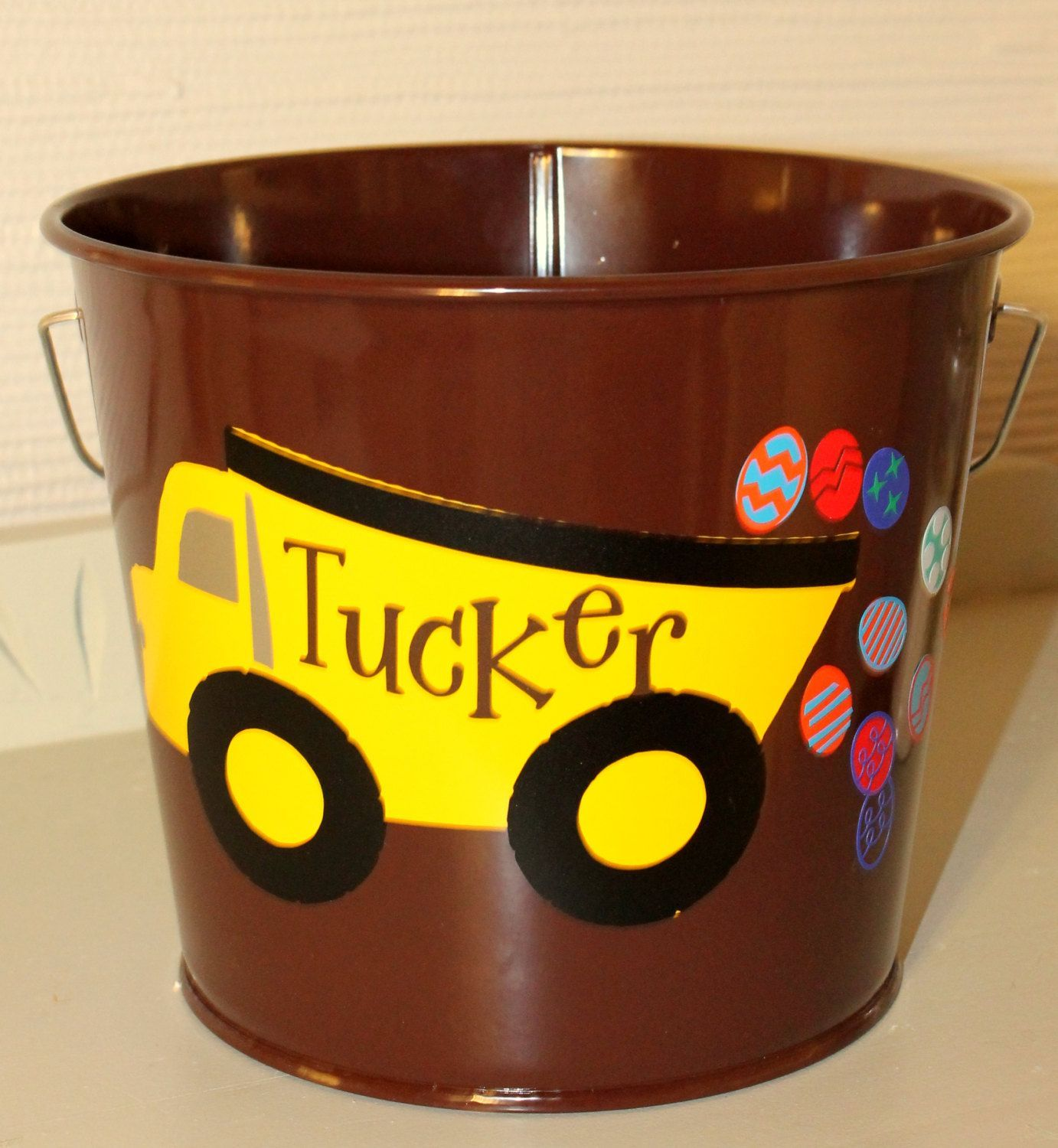 Easter Basket - Easter Pail - Meatal Easter Pail - Personalized Easter Bucket - Monogrammed Bucket