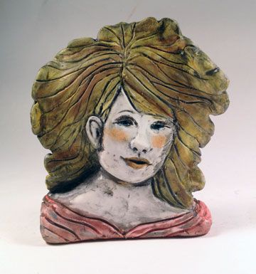 Polymer clay girl - a stand up -  Alice Stroppel