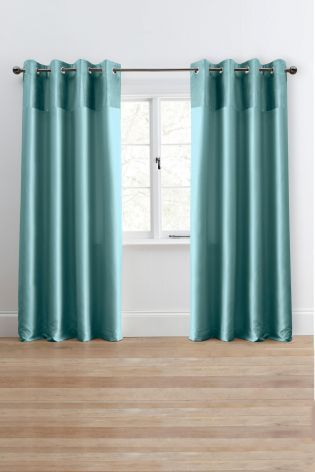 Buy Plush Band Eyelet Curtains From The Next Uk Online Shop