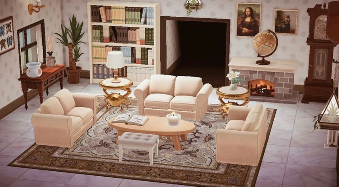 "new horizons island designs on Instagram: ""living room ... on Living Room Animal Crossing New Horizons  id=45662"