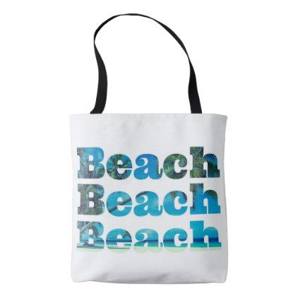 #bridesmaid - #White Beach Tote with Blank Handle