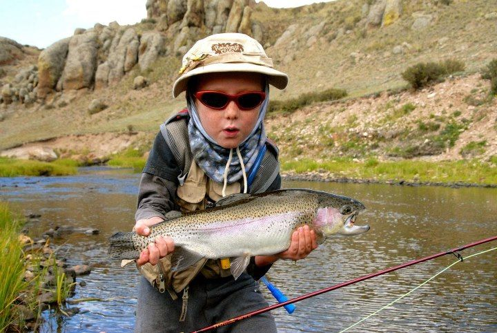 This 5 Year Old Catches This Pig Of A Rainbow Trout With His Own Fly Rod On The Brazos River Ranch In New Mexico C Fly Fishing Lets Go Fishing Fishing Women
