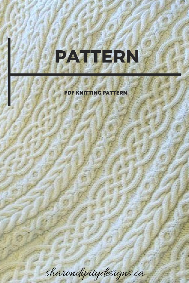 PDF Knitting Pattern for the Celtic Aran Afghan by ...