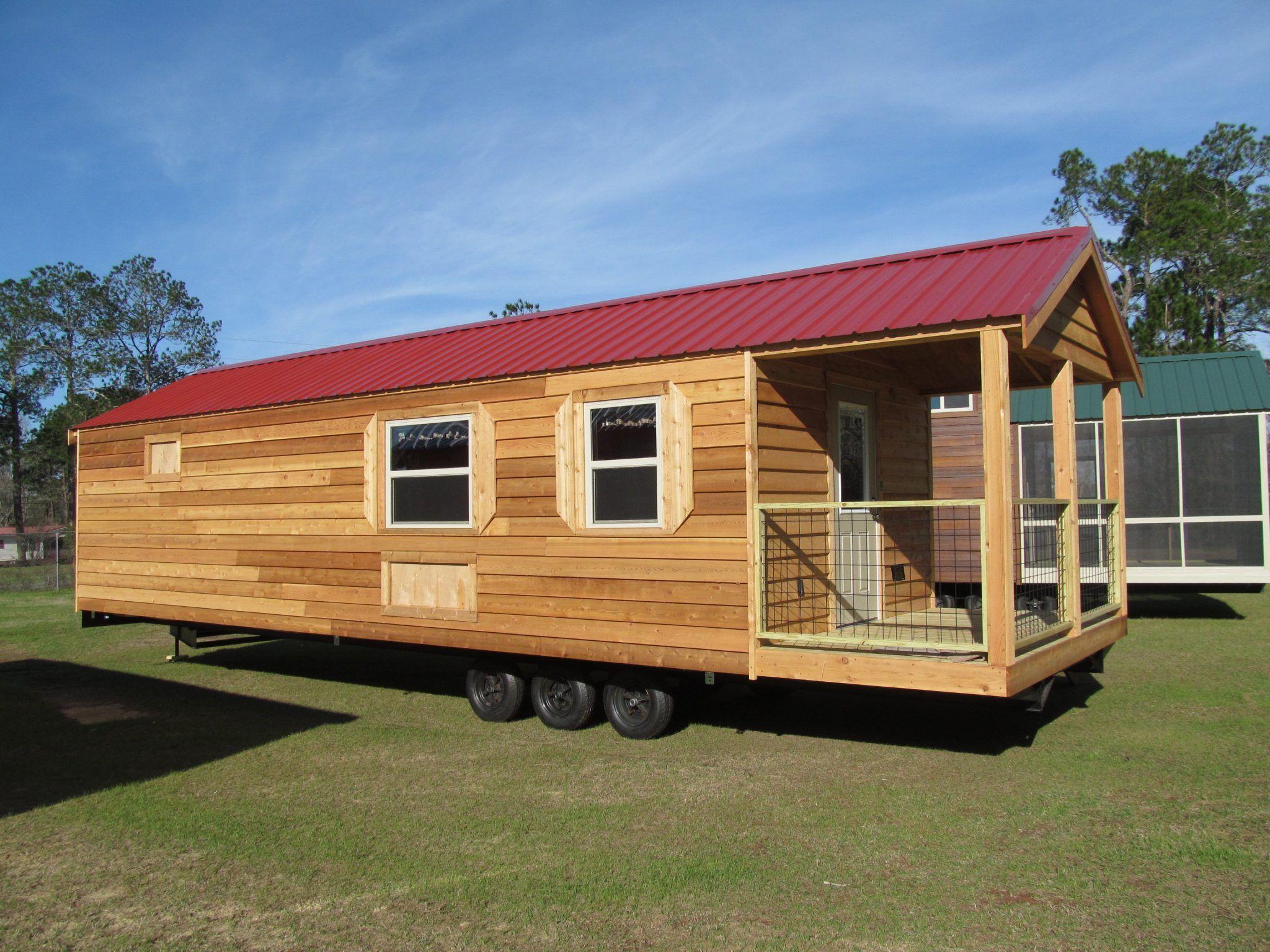 Tiny Cabin Built By Pinnacle Park Homes | Tiny House | Cedar cabin on mobile home park requirements, mobile home rentals, mobile home parks in california,