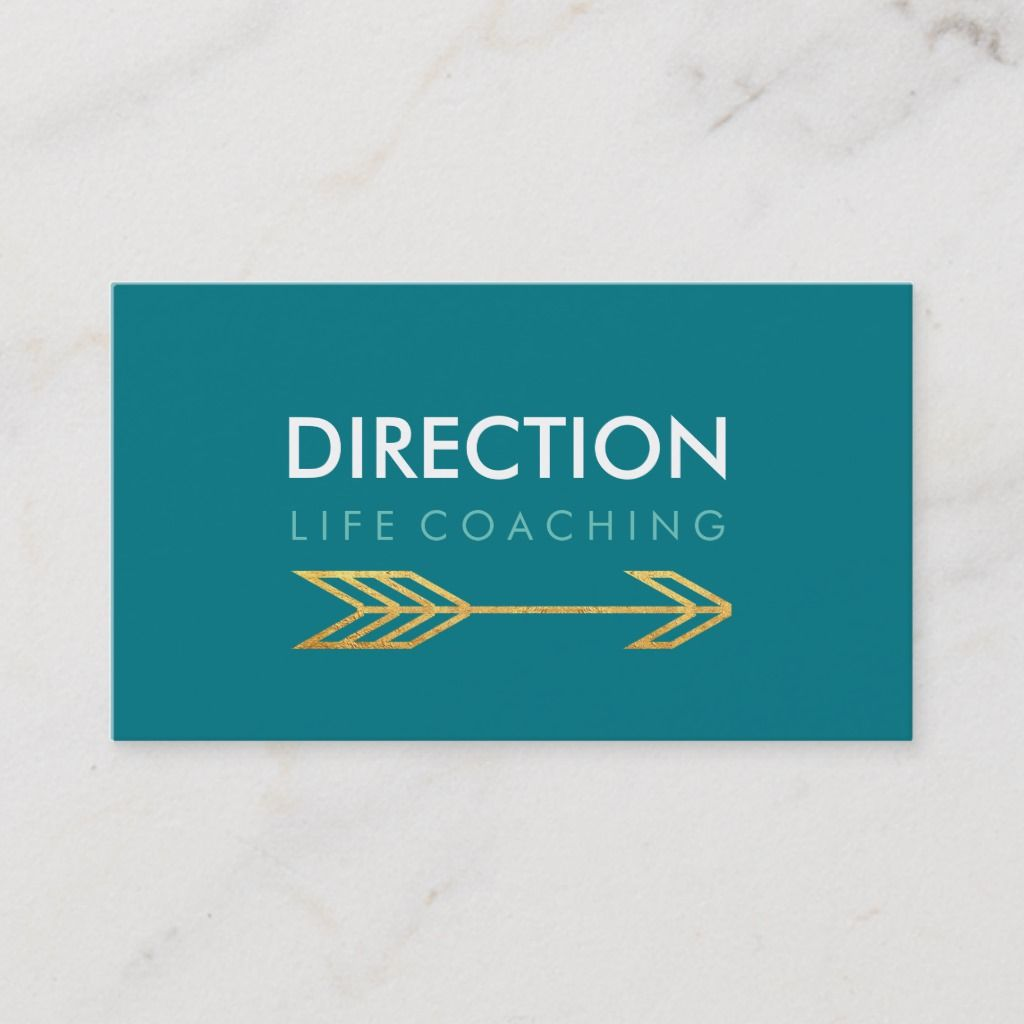 turquoise arrow bold text creative life coaching business