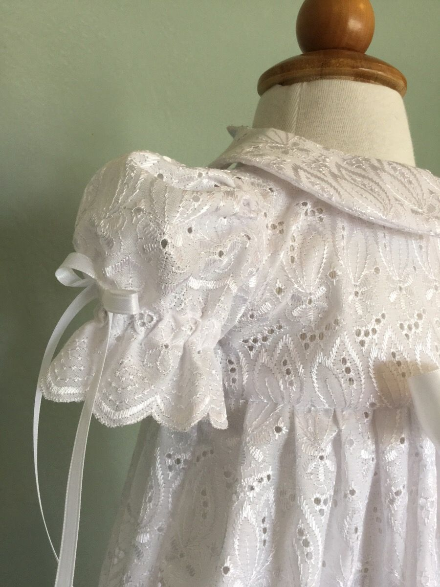 Best dress to wear to a baptism  Eyelet Christening Gown by Just Baby justbaby  Christening