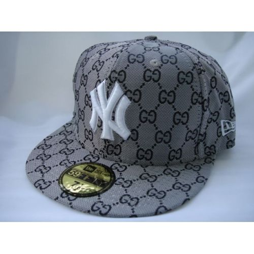 a5865efa57b75 New York Yankees New Era 59fifty Gucci Fitted White Hat-NYY120 ...