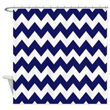 Navy Blue Chevron Shower Curtain Chevron Shower Curtain Blue Chevron Shower Curtain Shower Curtain