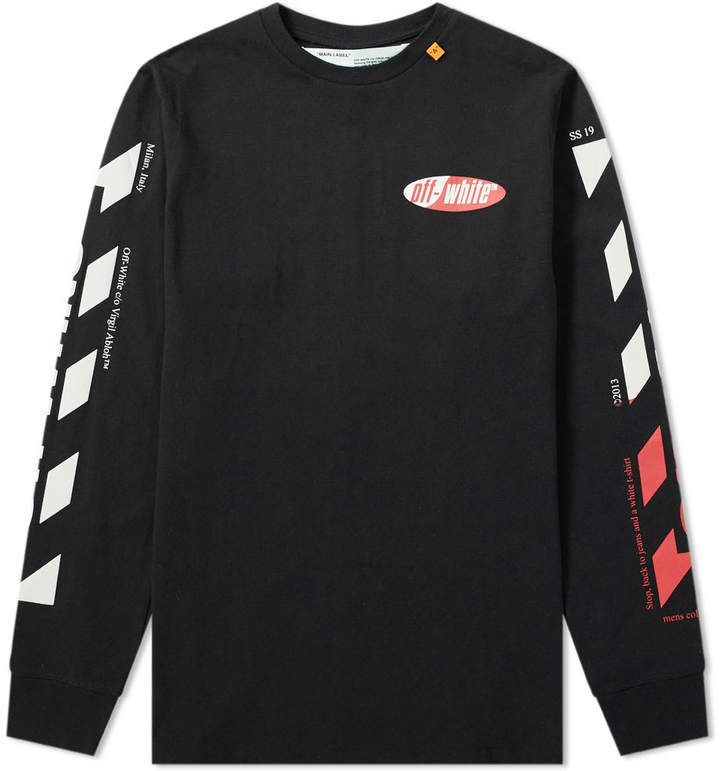 44bee470 Off-White Long Sleeve Split Logo Tee in 2019 | Products | Off white ...