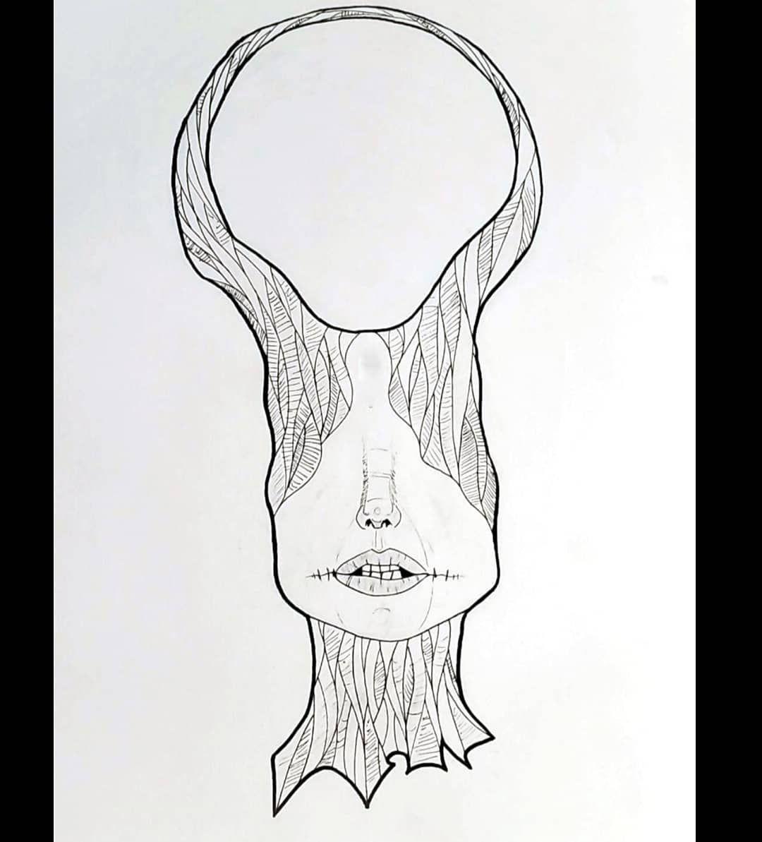 Defiance #art #artwork #blackandwhite #arts #macabre #micron #illustration #weird #weirdart #darkart #face #lips #detail #drawing #traditonalart