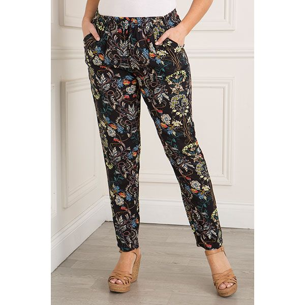 Sugar Crisp Floral Printed Trousers (370907) | Ideal World