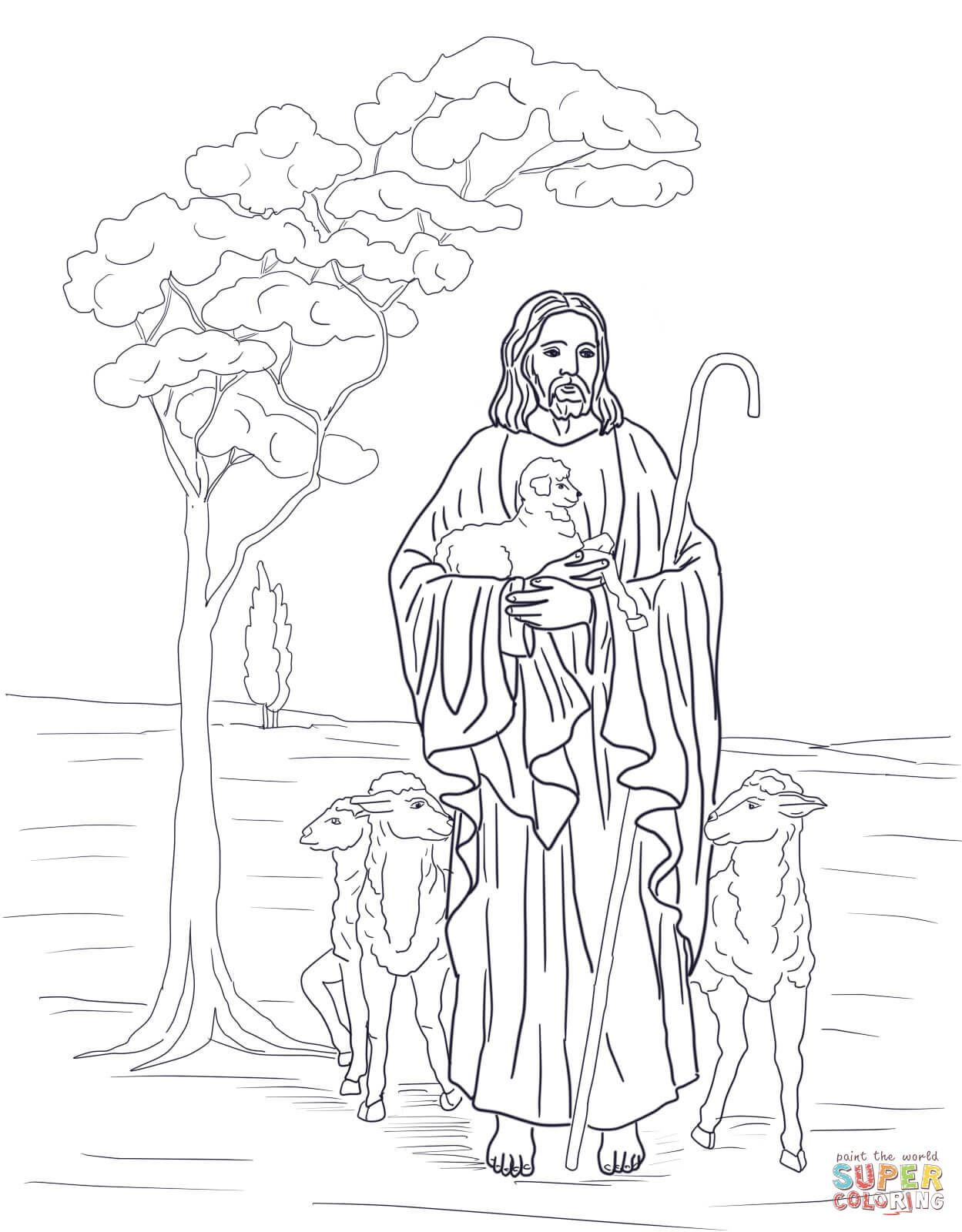 Jesus Is Our Shepherd Coloring Page Free Printable Coloring