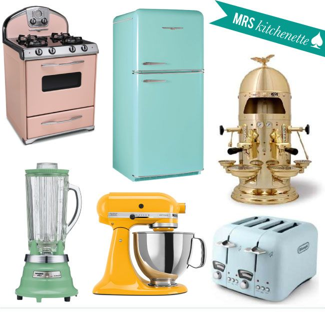 I 3 Vintage Style Appliances Need To Have The Stove Fridge And Toaster