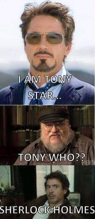 Tony Stark Trolled George R R Martin Robert Downey Jr Game Of Thrones Game Of Thrones Funny Game Of Thrones 3