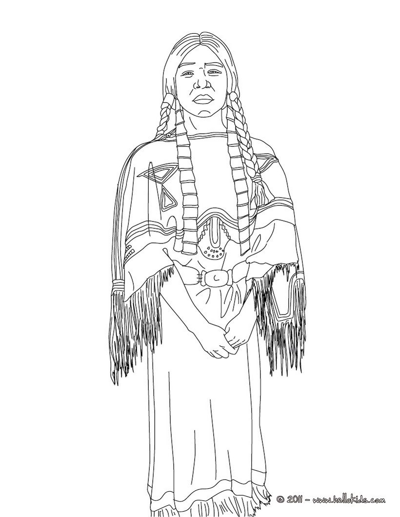 Icolor Around The World Sacajawea Coloring Pages Native