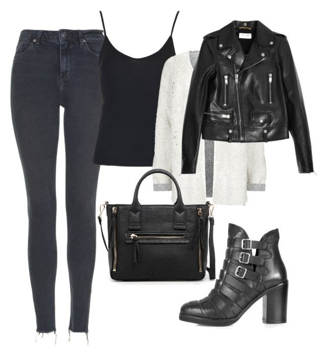 """""""Untitled #911"""" by nazaremarques ❤ liked on Polyvore featuring Topshop, Yves Saint Laurent and MANGO"""