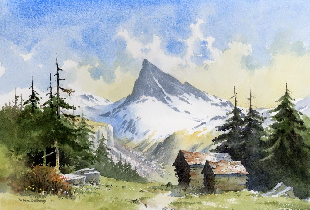 Painting Alpine Scenery In Switzerland Scenery Paintings