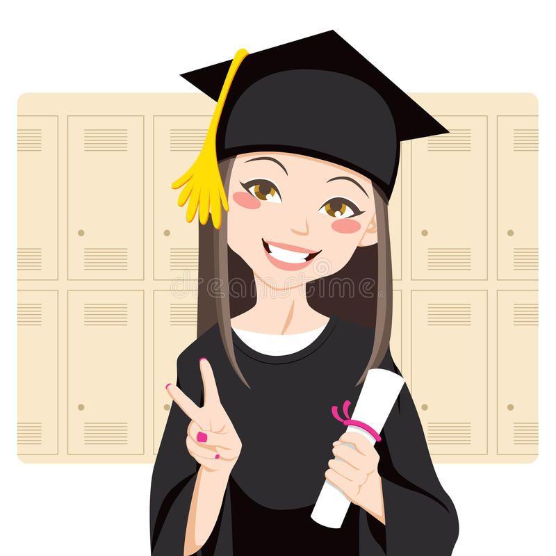 Asian Graduate Pretty Asian Woman Smiling In Front Of Lockers Holding Diploma I Affiliate Woman Smiling Front Asia Ilustrasi Karakter Gambar Wisuda