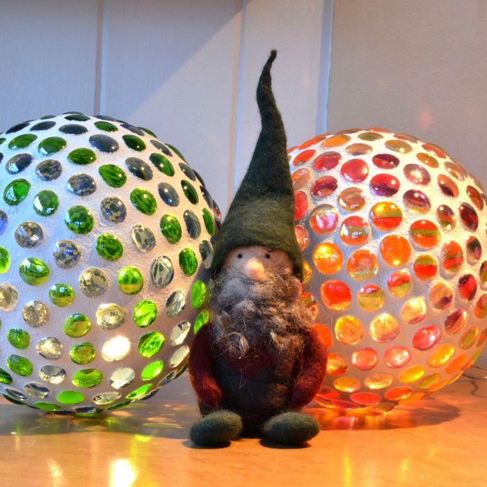 Mosaik Leuchtkugel Bastelideen für Balkon Pinterest - gartendekoration selber basteln