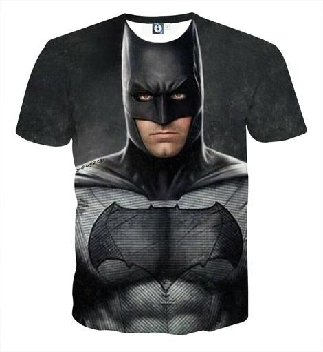XL Batman Unisex Na Na Na Design T-Shirt Black