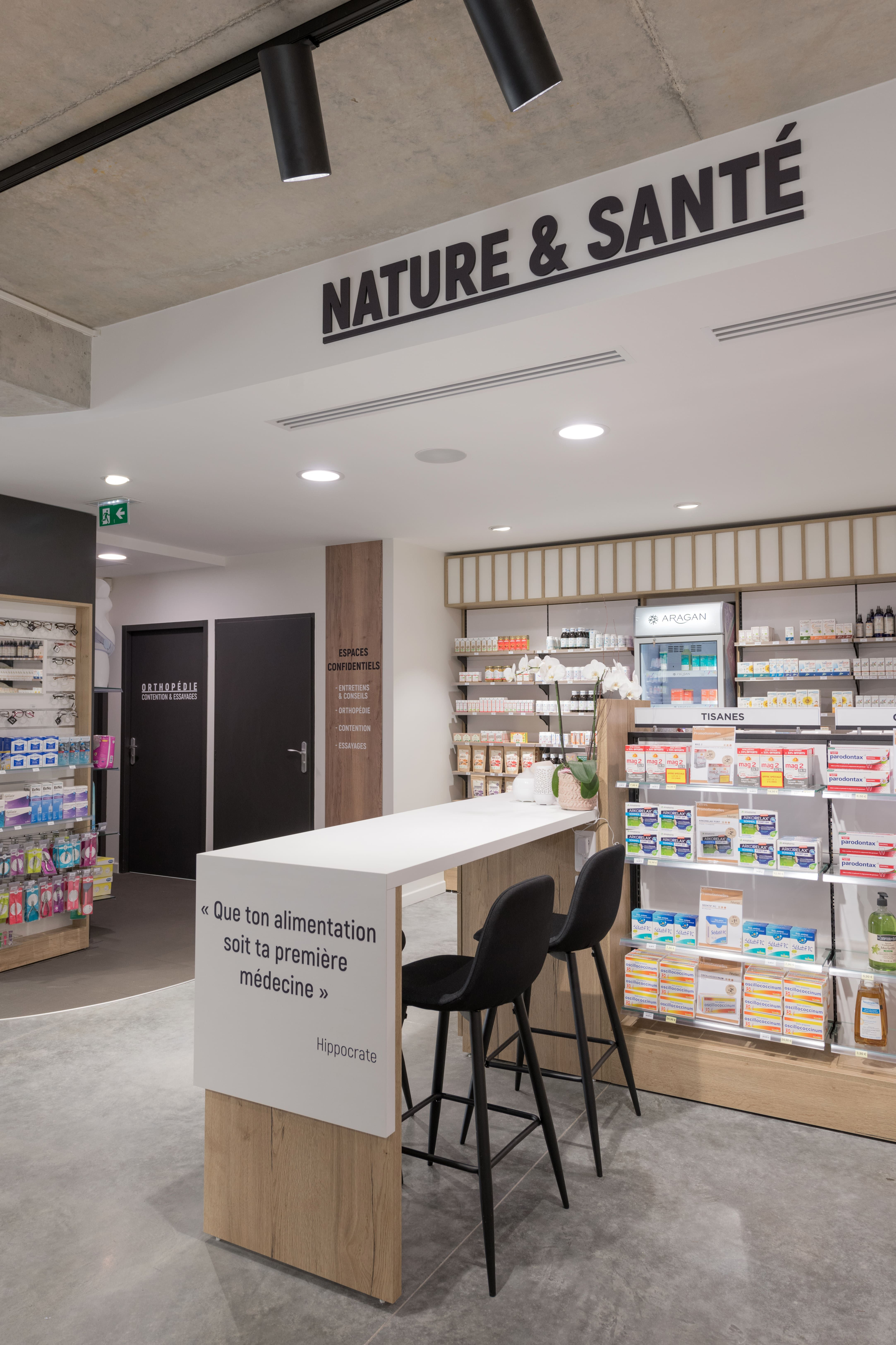 Espace Nature Agencement Pharmacie Du Trery 38 En 2020 Pharmacie Agencement Pharmacie Pharmacie Design