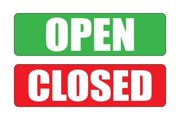 photo about Printable Office Closed Signs titled Printable Open up End Indicator Free of charge PDF Down load Open up Conclusion Indicator
