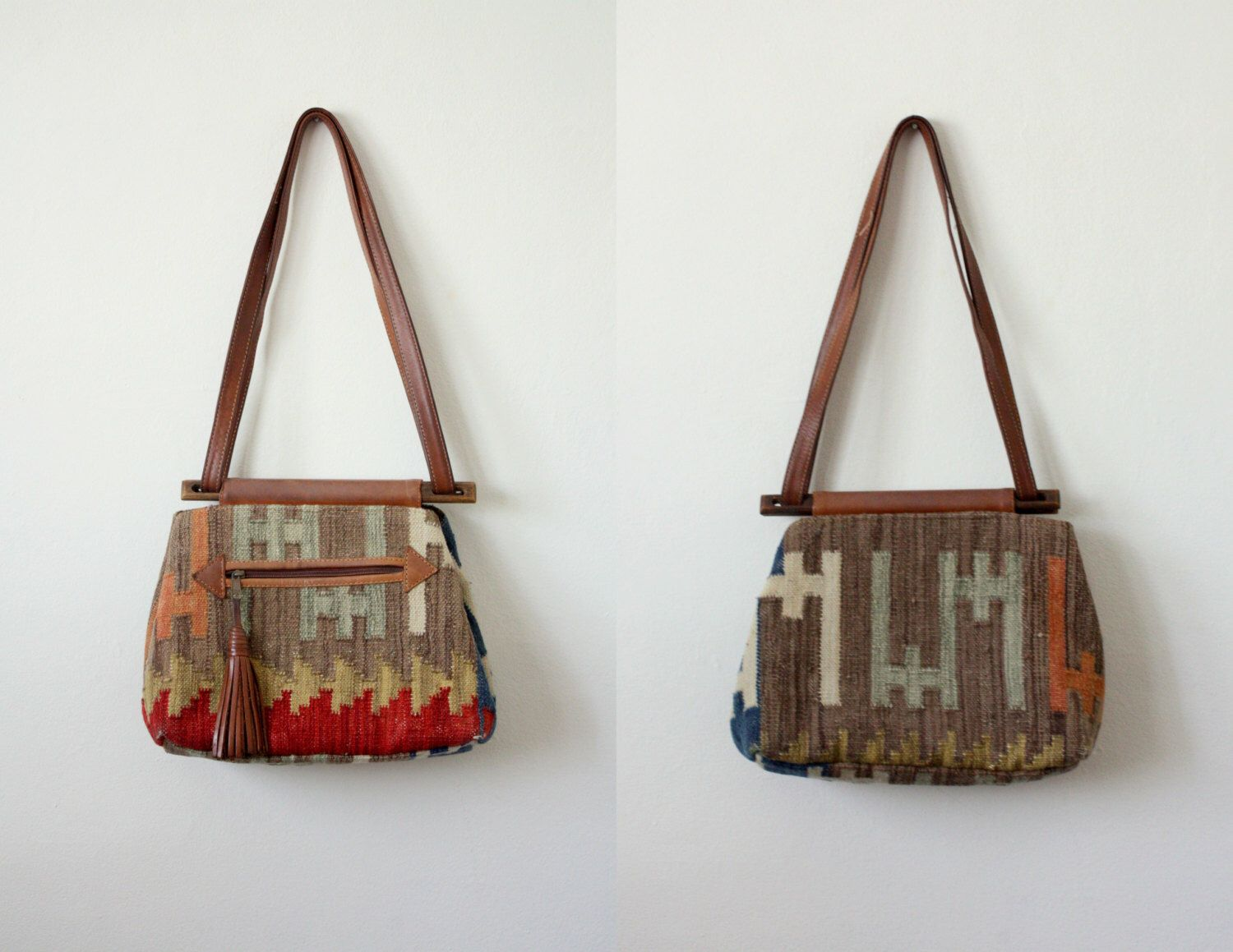 vintage tribal shoulder bag by 1919vintage on Etsy https://www.etsy.com/listing/182455514/vintage-tribal-shoulder-bag