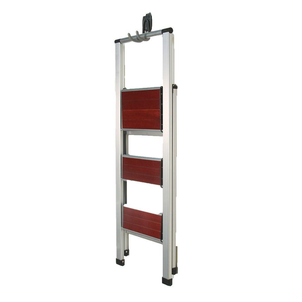 Best Richards Homewares 3 Step Brushed Aluminum Wood Step 400 x 300