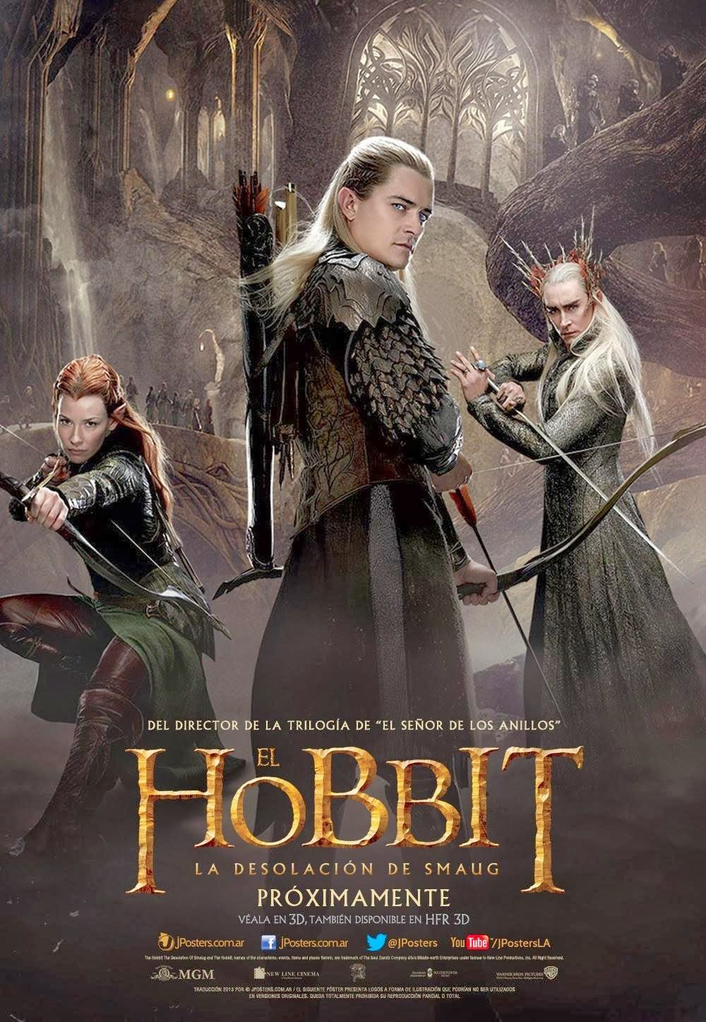 The Hobbit The Desolation Of Smaug 2013 720p The Hobbit Movies Desolation Of Smaug Hobbit Poster