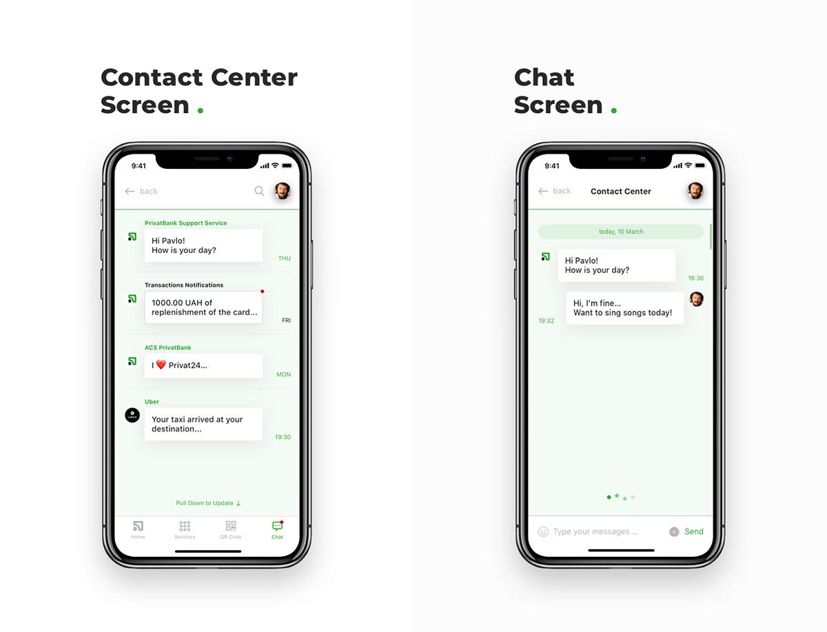Privat Bank Mobile App Design Concept On Behance App Design Mobile App Design Mobile App