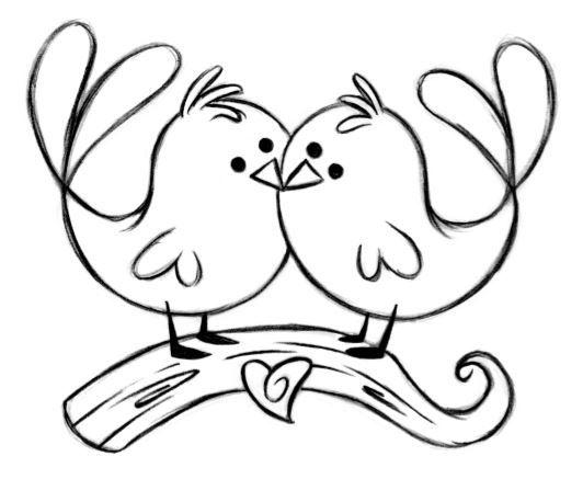 Love Birds Black And White Clipart Christmas Sreysq Newyear2020theme Info