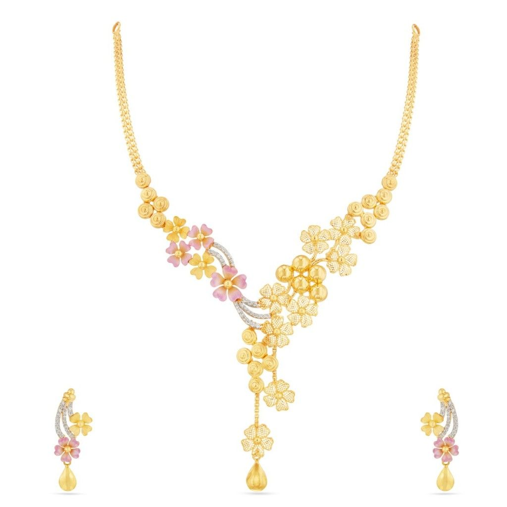 light weight gold necklace designs with price in rupees | Necklace ...