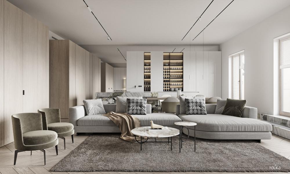 Tol Ko Pistachio Flat On Behance Dizajn Interera Interer Dizajn