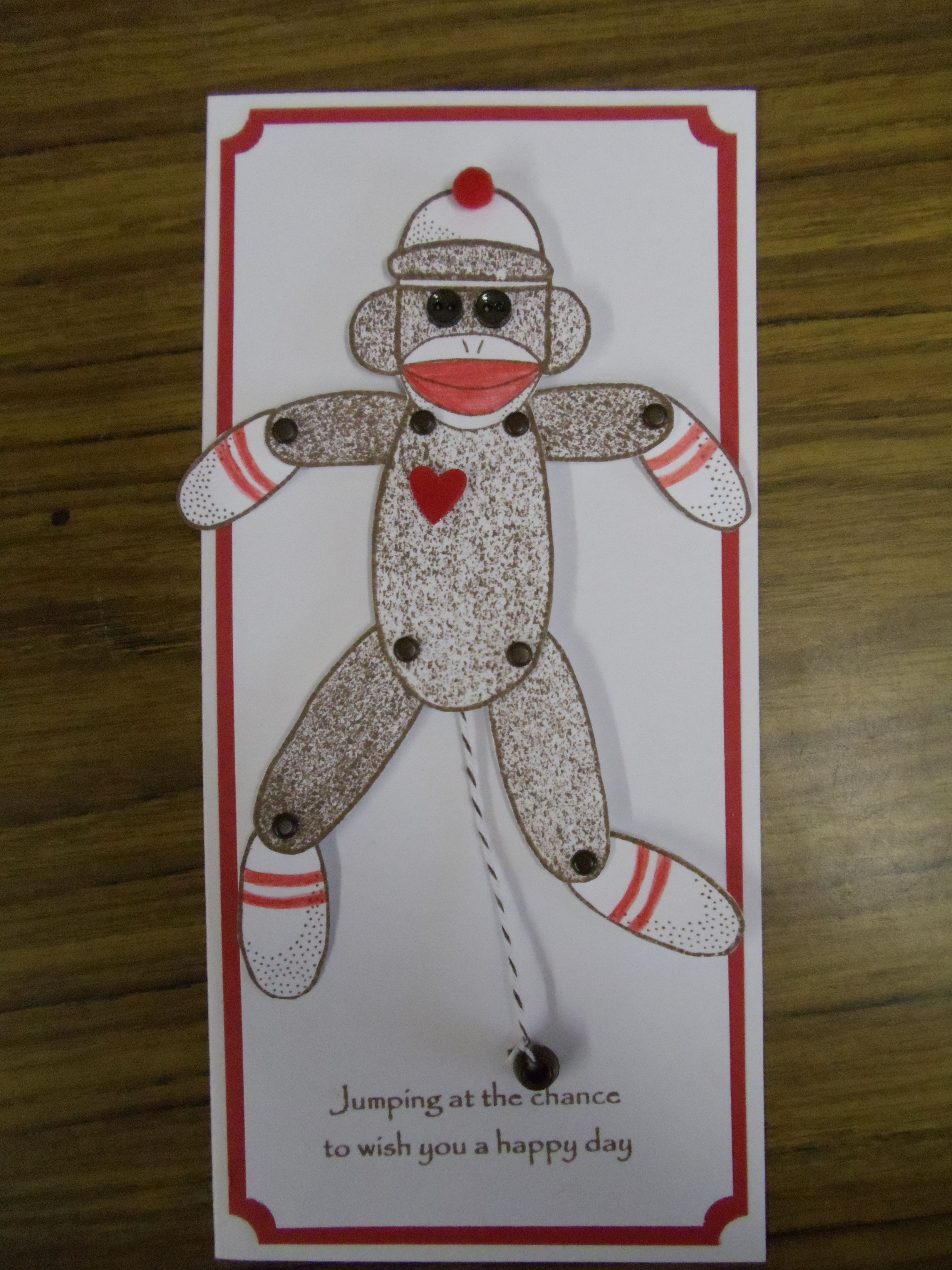 Jumping Sock Monkey Greeting Cards Pinterest Monkey Socks And