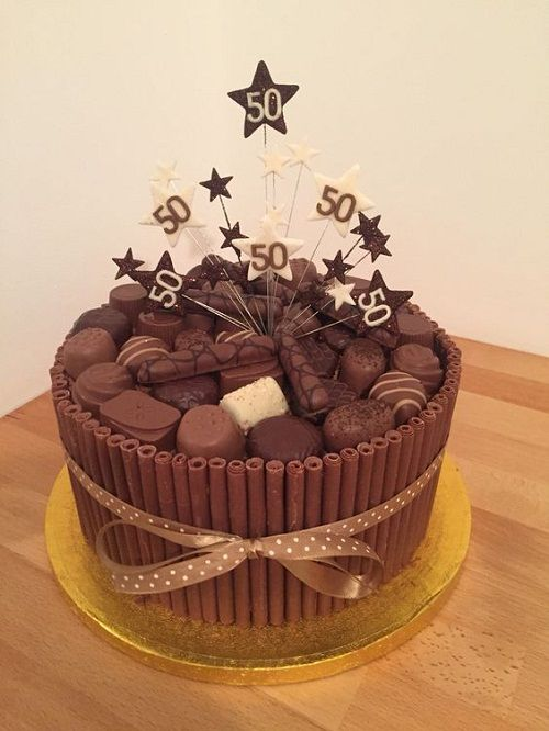 Chocolate Cigarello 50th Birthday Cakes For Her