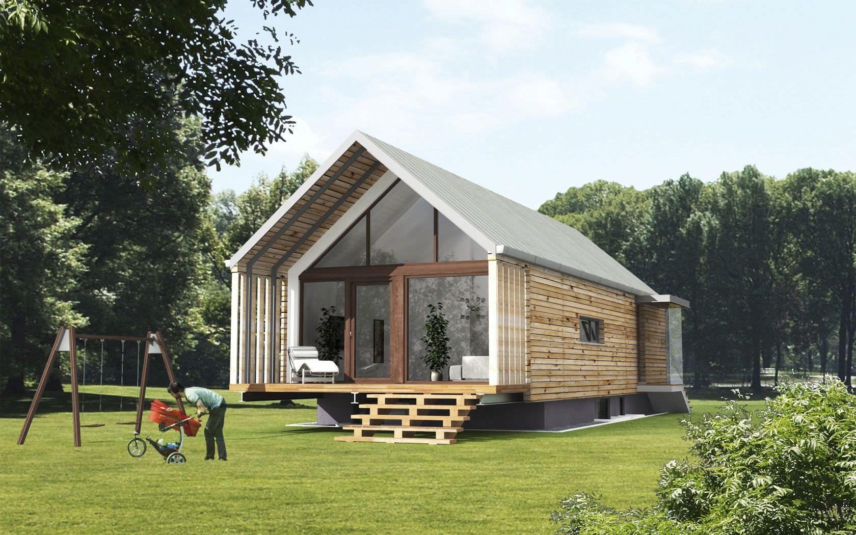 Maison Ossature Métallique Contemporaine maison contemporaine préfabriquée, à ossature bois, par