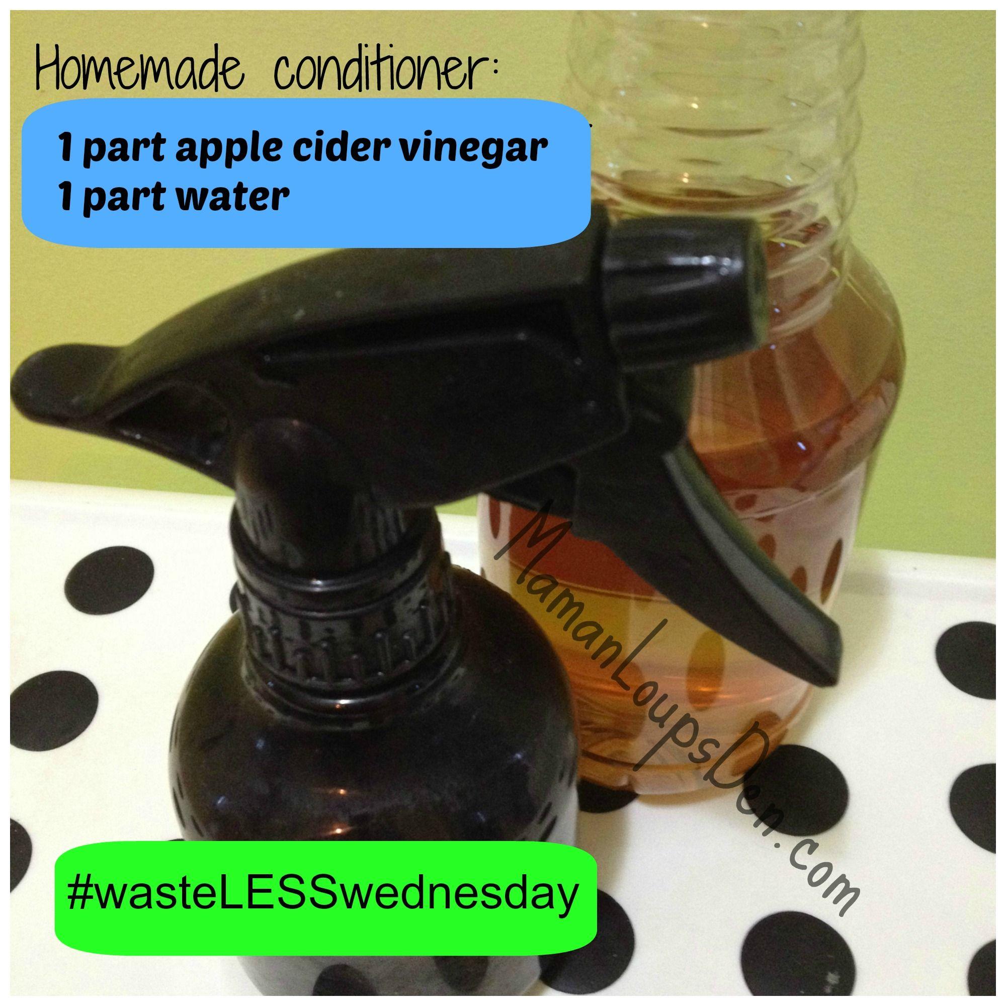Apple Cider Vinegar Conditioner wasteLESSwednesday