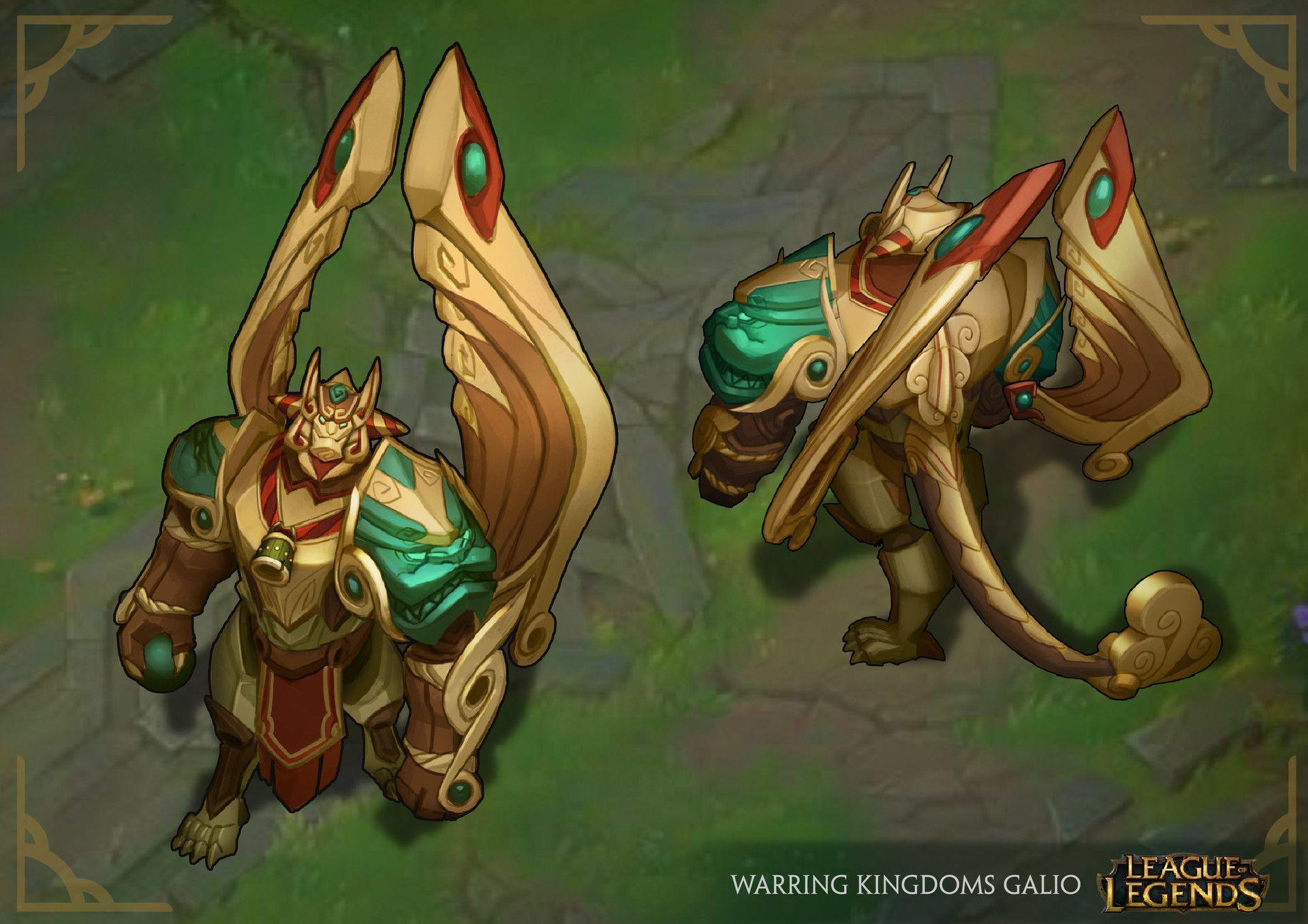 Warring Kingdoms Galio League Of Legends Skin Concept By Nicholas Oei Lol League Of Legends Champions League Of Legends League Of Legends Characters