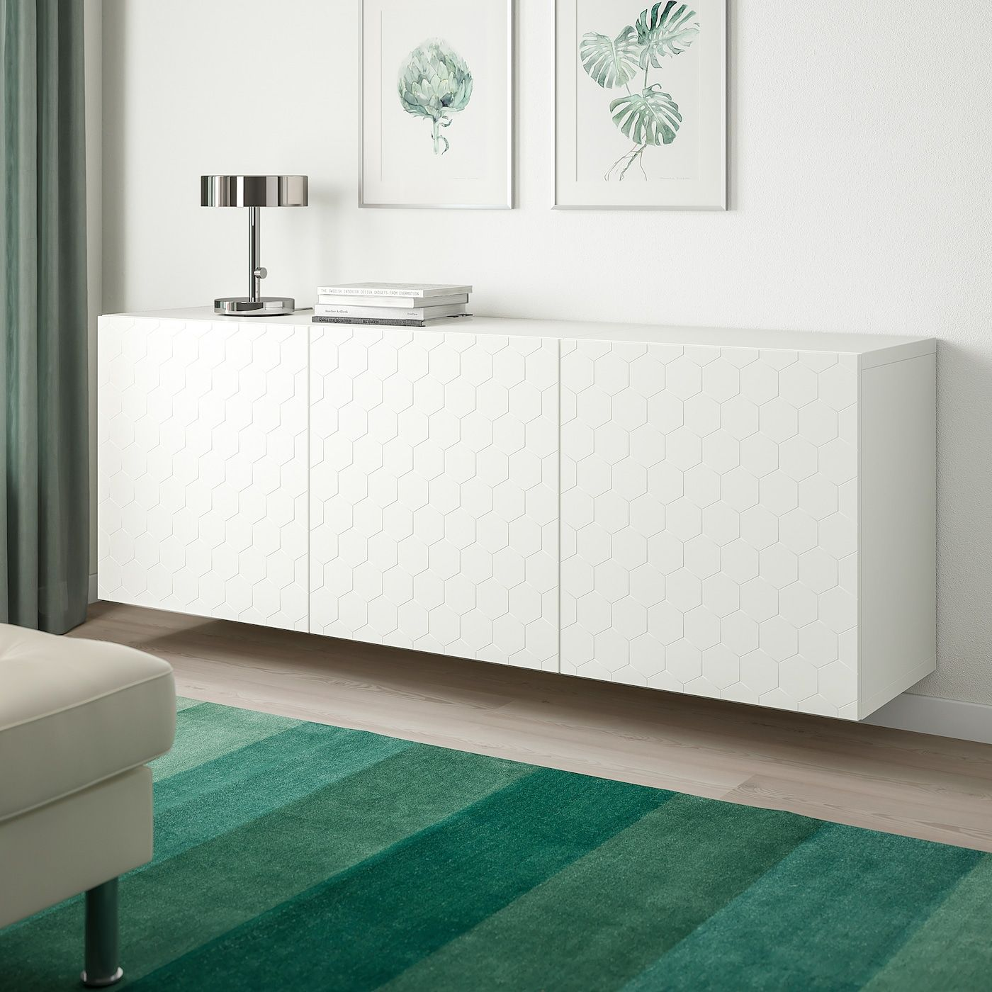 Besta Wall Mounted Cabinet Combination White Vassviken White 70