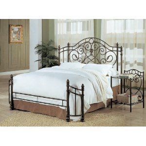 Antique Gold Finish Bed Amazon Iron Bed Frame Headboards For
