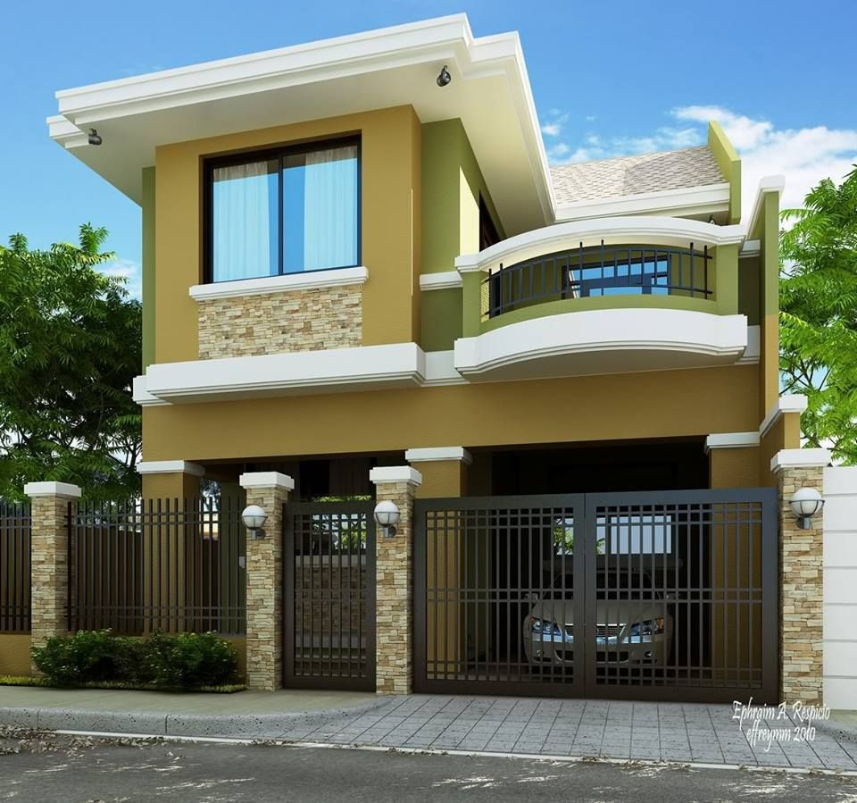 Spectacular green philippines house townhouse 2 storey house design small house design modern