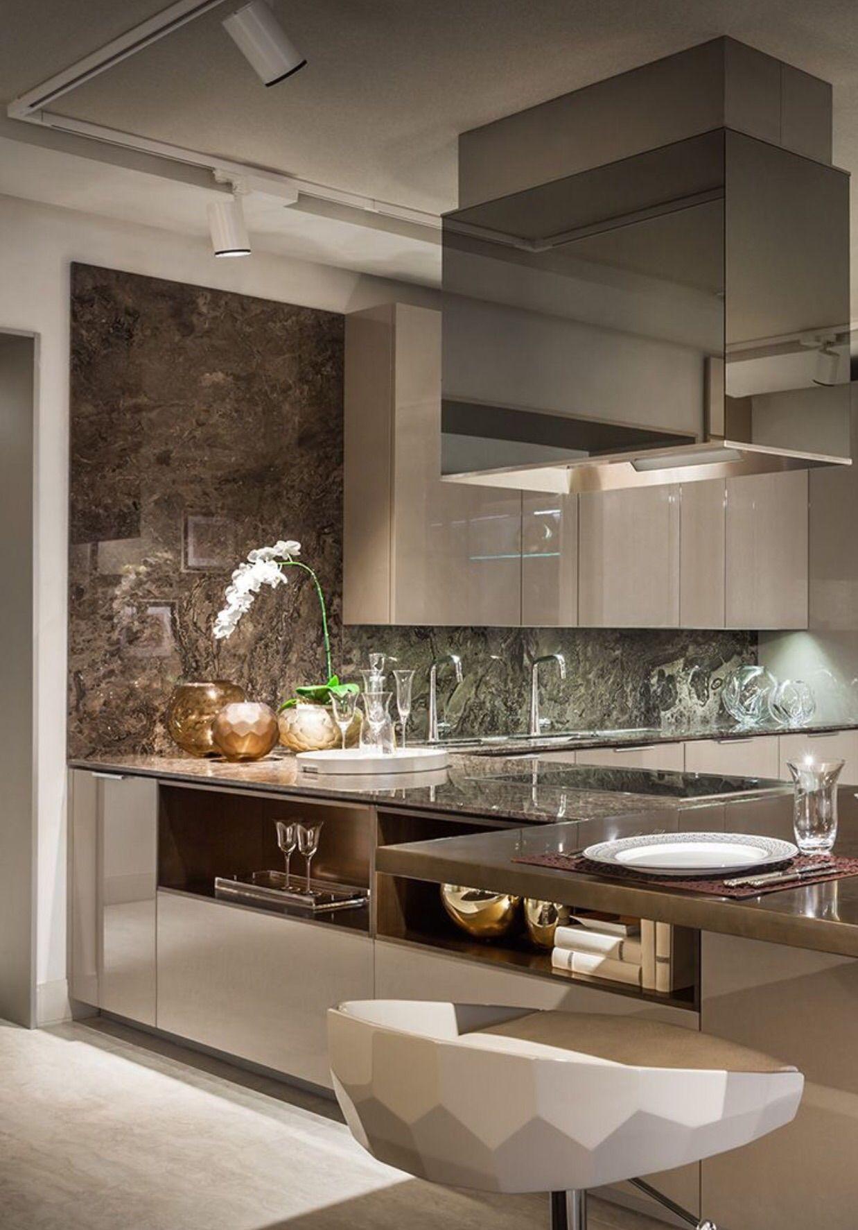 Interior Design For Kitchen: Built-in Shelves-backside Of Cabinets