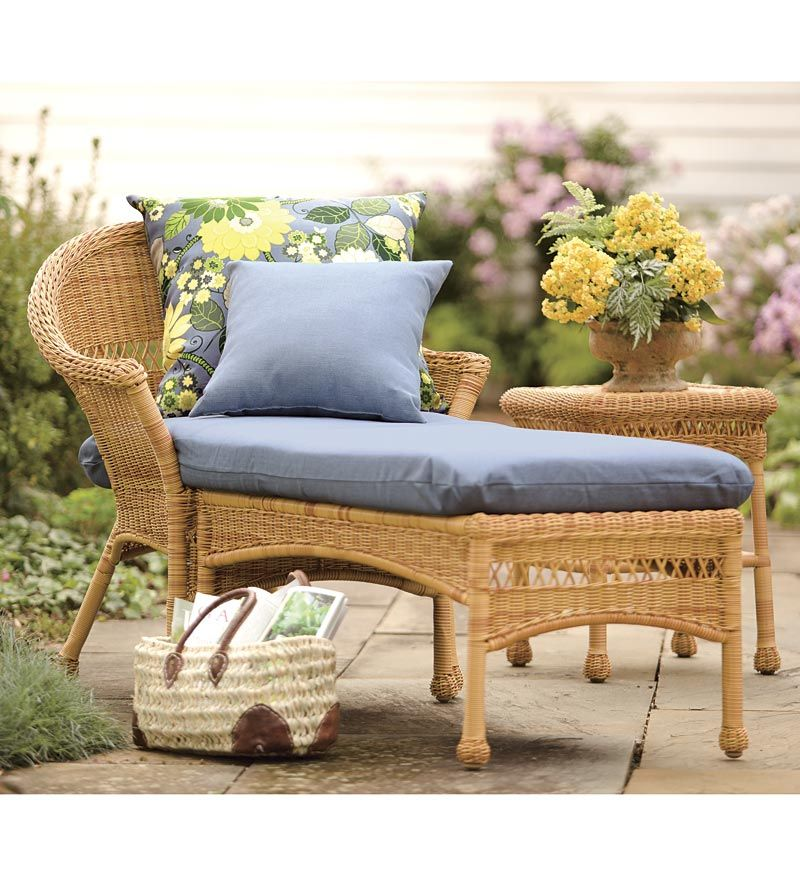 Plow And Hearth Furniture: Comes In White ($249) With Periwinkle Cushions (sold